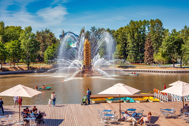 The Fountain on VDNH lake (Moscow, Russia, 2019)
