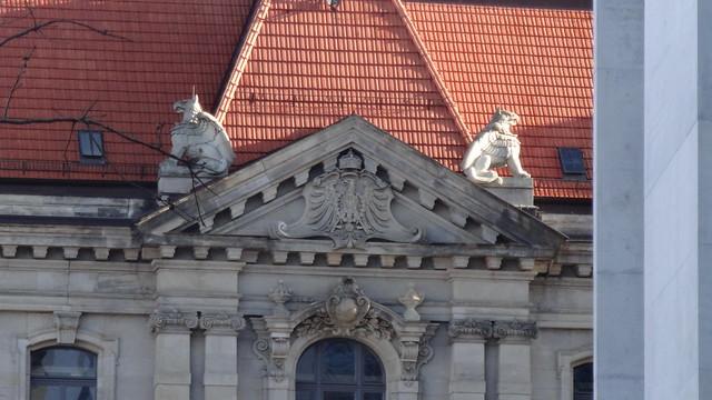 1887/91 Berlin Greife auf Kaiserlichem Patentamt in Neobarock vom Geheimen Oberregierungsrat August Busse Luisenstraße 32-34 in 10117 Mitte