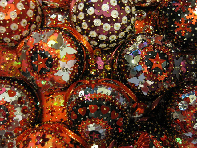 Red, Black and Silver Christmas Baubles