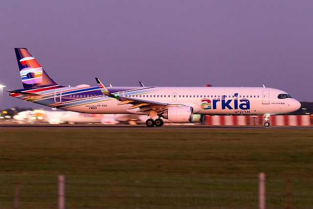 4X-AGN Arkia Isreal Airlines A321neo London Stansted Airport