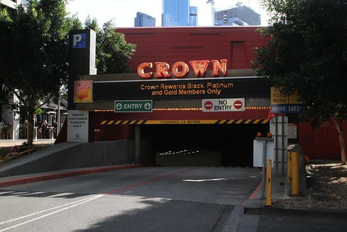 Southbank Boulevard entrance to the Crown Casino underground car park
