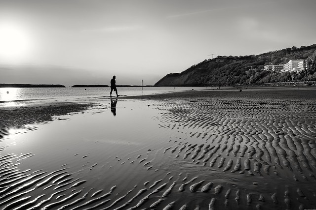 Walking with the tide