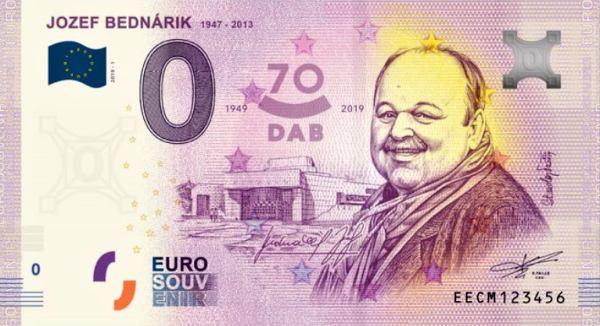 0 euro 2019 Jozef Bednárik, 70 rokov DAB