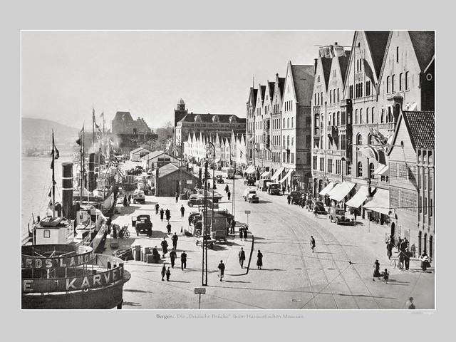A Picture Of Norway - Bergen 1930 Deutsche Brücke (c) 2020 Берни Эггерян :: rumoto images 2048