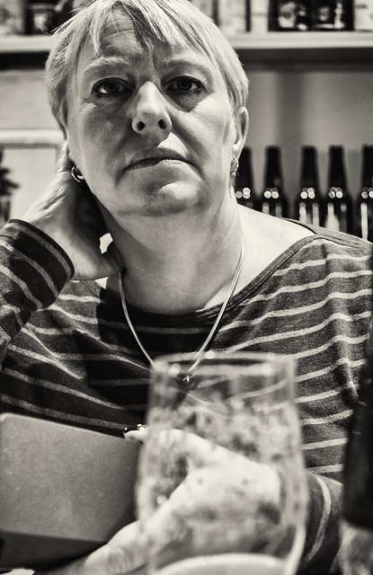 A Beer in Olhops - Valencia (Monochrome)  (Panasonic DC-S1 & Sigma DN 45mm f2.8 Prime)