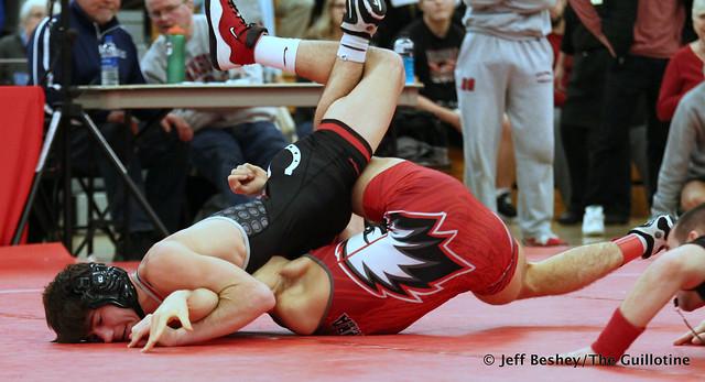 132 Semifinal - Reid Ballantyne (Stillwater) 12-1 won by fall over Cameron Johnson (Aurora (A. Christian)) 14-1 (Fall 1:06). 191221AJF0123