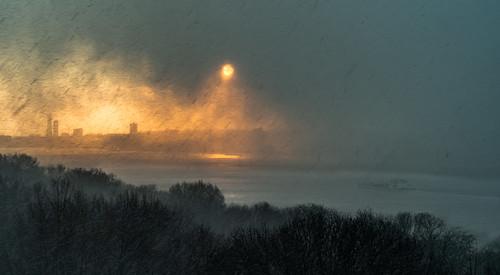 newyork snow winter manhattan hudson river weather nyc bigapple upperwestside window view