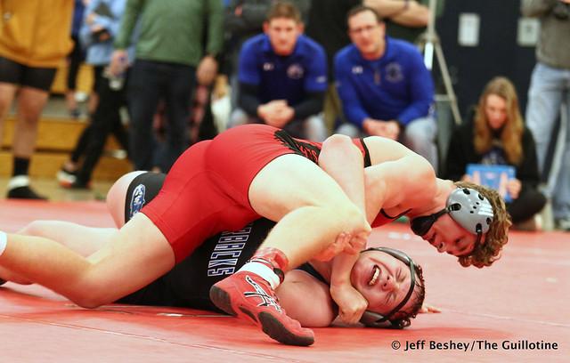195 Semifinal - Joey Johnson (Shakopee) 19-2 won by fall over Colton Krell (Westfield Razorbacks) 8-3 (Fall 5:52). 191221AJF0326