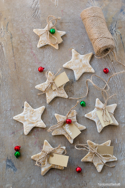 Stelle di natale Segnaposto Fatte a Mano-Handmade Christmas Star Place Cards