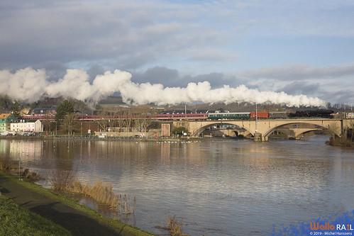 5519 . CFL . Train spécial -Sonderzug Luxembourg , Saarbrücken , Homburg (Saar) . Wasserbillig , Langsur . 21.12.19.