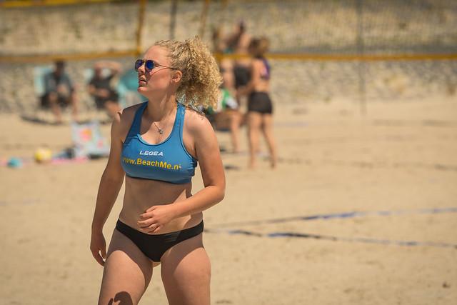 Beach volleyball girl.