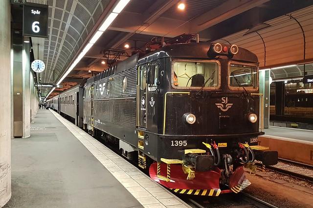 SJ Rc6 1395, Stockholm Central, 07-11-19