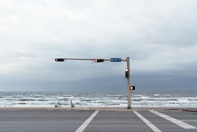 Seawall Boulevard, Galveston, Texas on the Gulf of Mexico