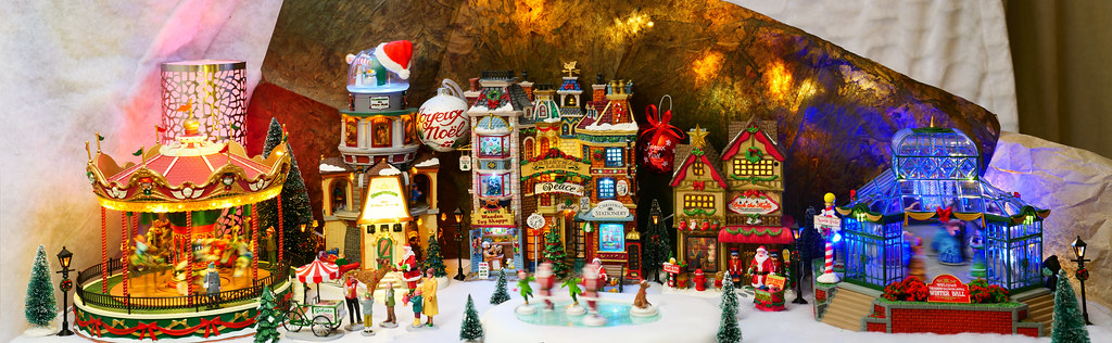 Village miniature de Noël-2019