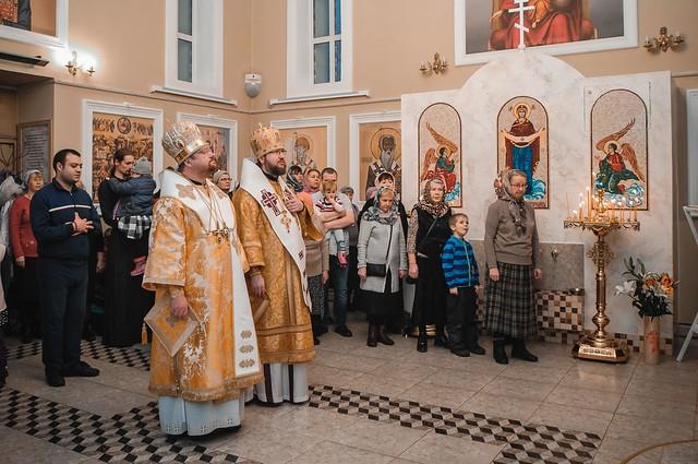 22 декабря 2019 г. Литургия в храме Рождества Пресвятой Богородицы