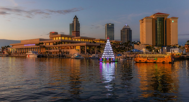 Floating Christmas Tree at Tampa Convention Center