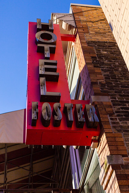 Dying Hotel Foster Sign
