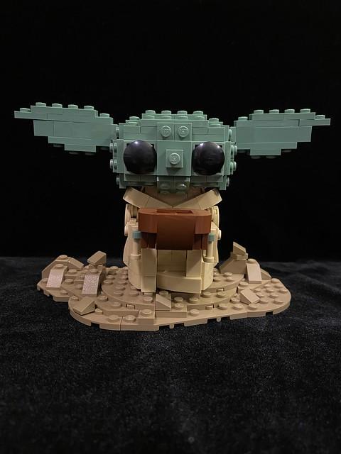 LEGO baby Yoda drinking soup
