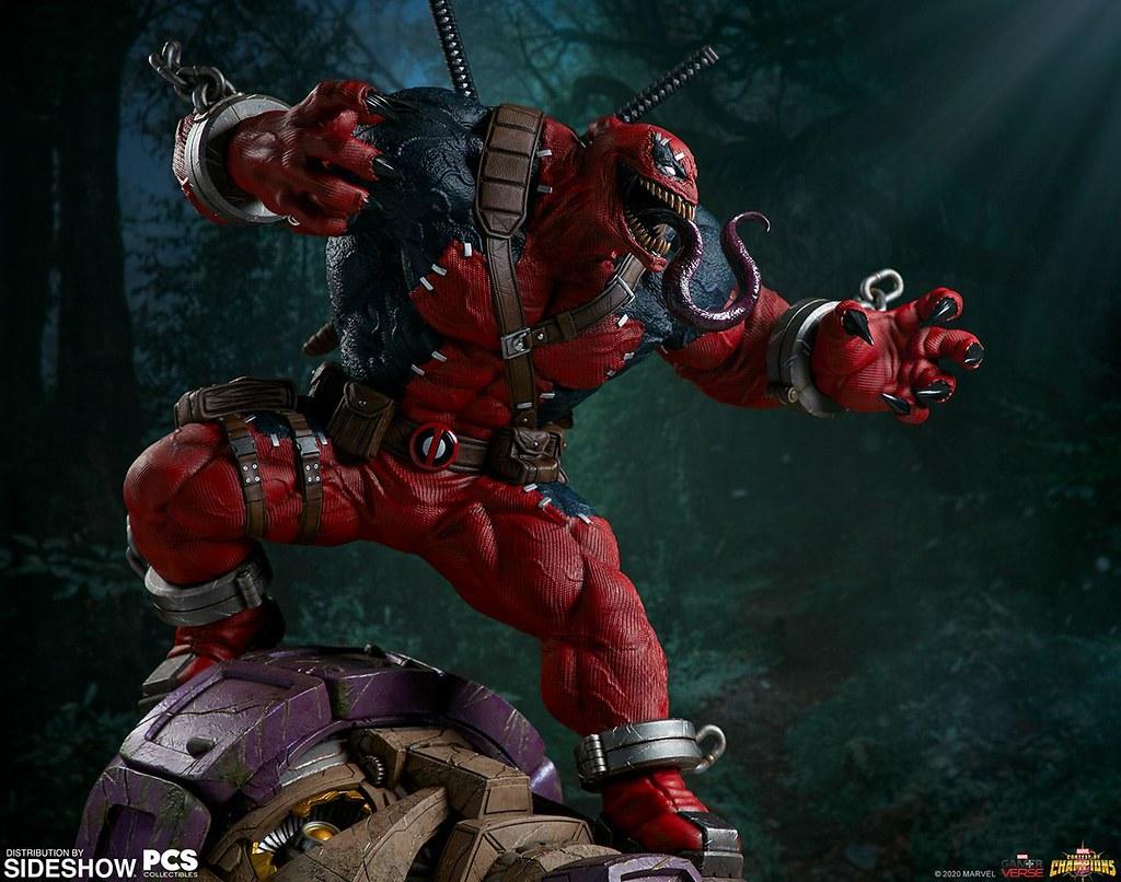 龐然巨物暴亂強襲! Pop Culture Shock × Sideshow《MARVEL 超級爭霸戰》猛毒侍 Venompool 1/3 比例全身雕像