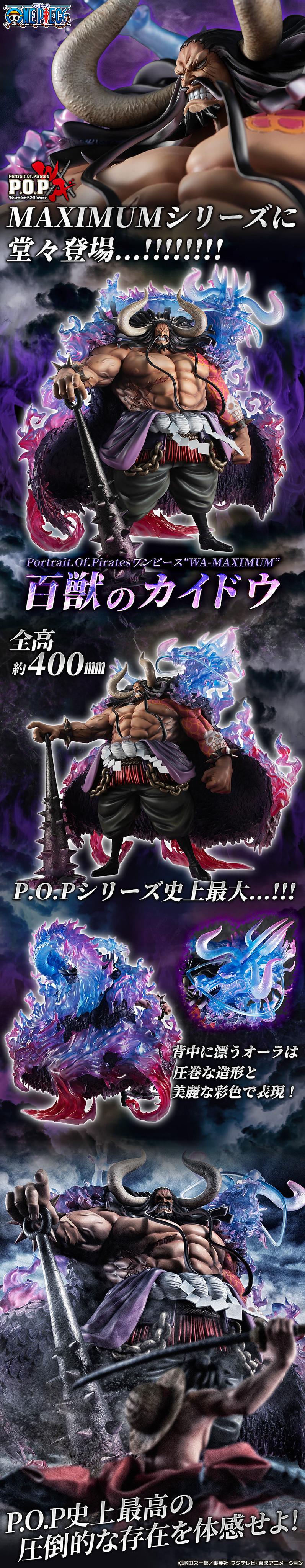 """系列史上最巨大 40 公分!Portrait.Of.Pirates《ONE PIECE》 """"WA-MAXIMUM"""" 百獸海道(百獣のカイドウ)"""