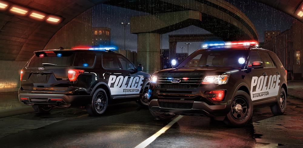【圖六】Ford Explorer Police Interceptor® Utility美式特警車汲取與執法單位近 70 年的合作經驗全新開發,無疑是結合SUV全方位應用與警方執法需求洞見的最佳示範