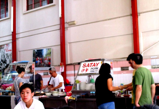 Lau Ya Keng pork satay and fish ball stalls