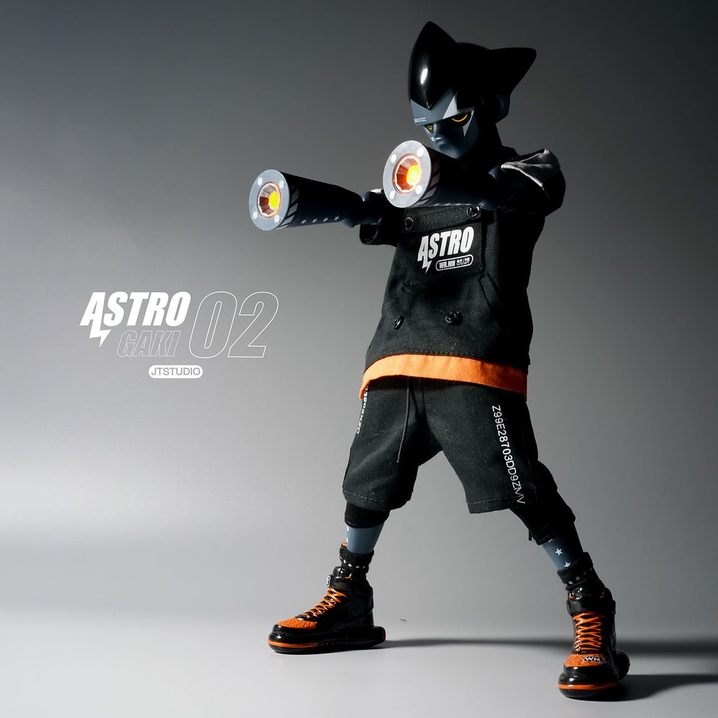 J.T Studio Street Mask 系列【Astro Gaki 戦争の人型- WM.02】1/6 比例人偶