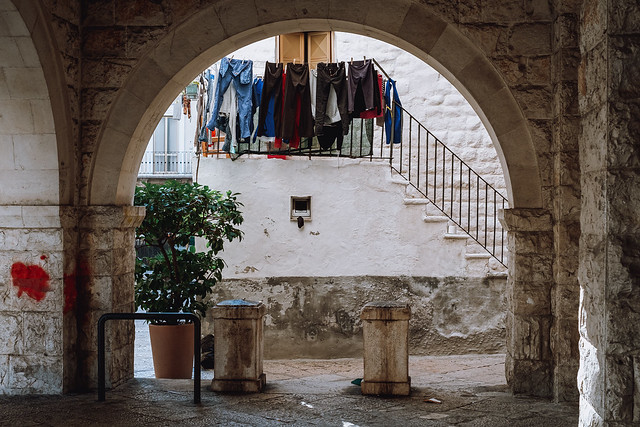 The ancient and the everyday blend in old town Bari
