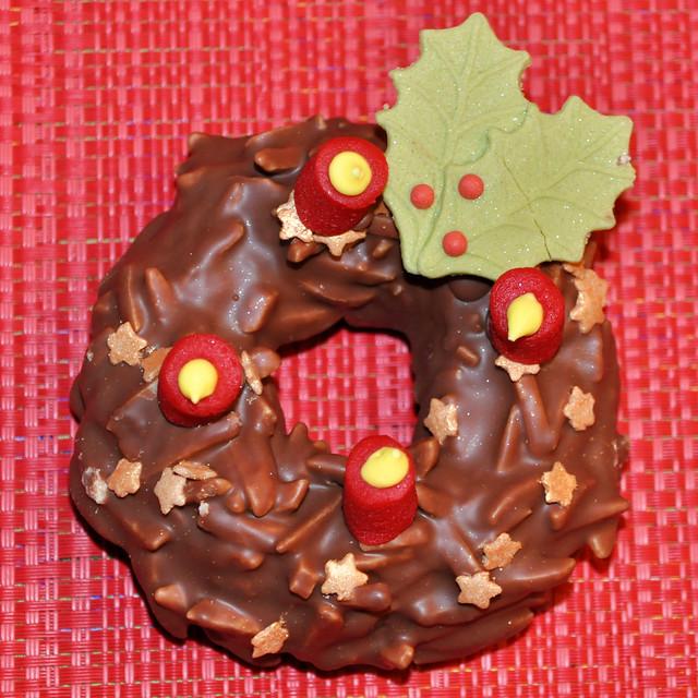 Schoko-Adventskranz mit Gruß vom Samichlaus ... Brigitte Stolle