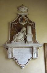 grieving cherub with upturned torch against broken pillar (i.m. Sarah Norris, 1787)