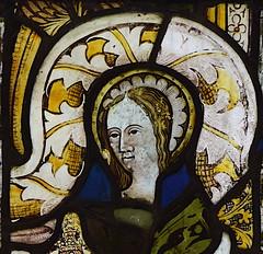 fragment: head of a female saint (15th Century)