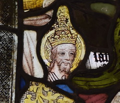 fragment: St Gregory with a papal crown (15th Century)