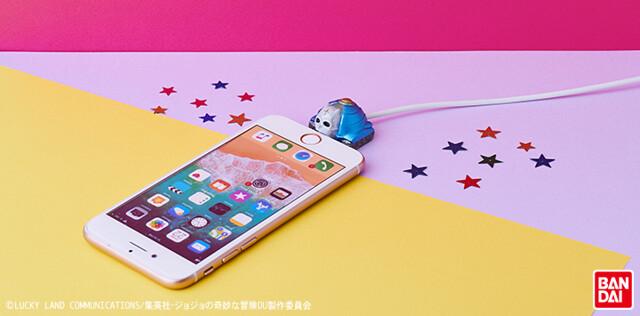 讓你的手機充電時也很JOJO!BANDAI《JOJO的奇妙冒險 不滅鑽石》穿心攻擊 回音ACT1 造型傳輸線保護套(ケーブルバイト シアーハートアタック エコーズACT1)