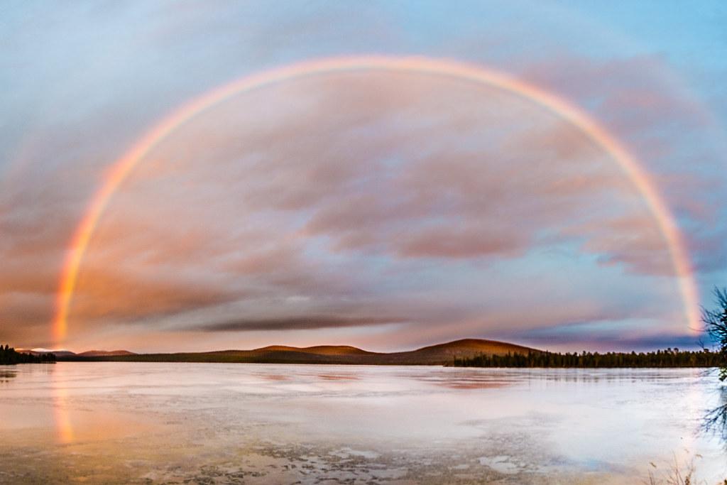 November rainbow in Lapland