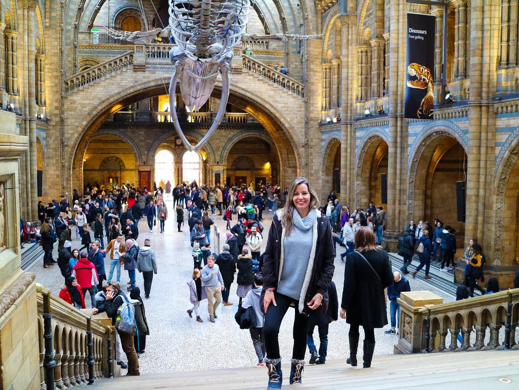 Interior del Museo de Historia Natural en Londres