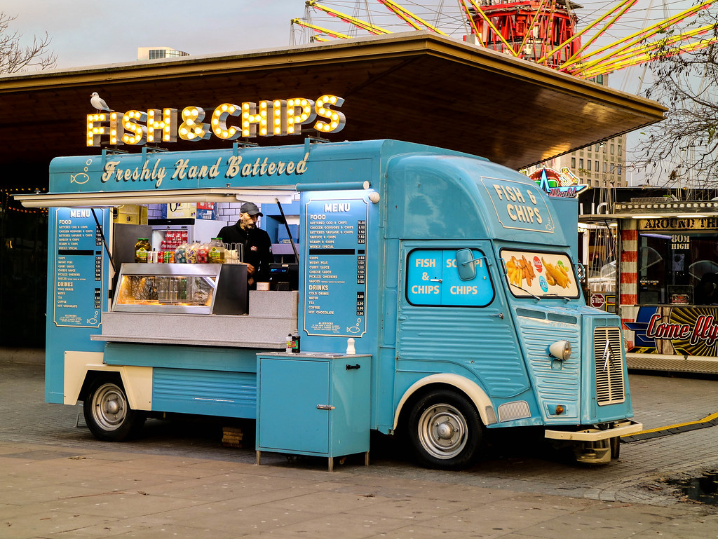 Fish and chips en la ruta a pie por el centro de Londres