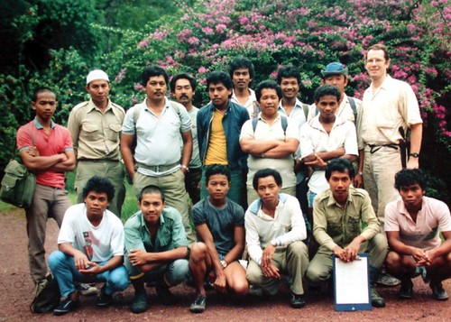 Mon, 12/23/2019 - 09:37 - back row from left:  ?, Haji Talib, Renjer Siheman, Abu (FRIM driver), ?, Ahmad Awang, Haji Wahab, Yahzid, Junan Taib, Quah Eng Seng, & James V. LaFrankie, Jr.  front row from left: Ulan Atan, ?, Angan Atan, Baya Busu,  Kamarudin Saleh, & Rahman Kandol