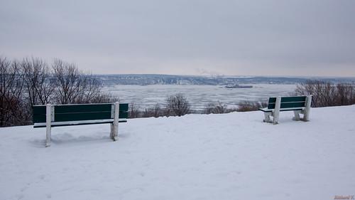 winter hiver plainesdabraham québec canada5100 vue sur le fleuve glacée canada parc park quebeccity view frozen river