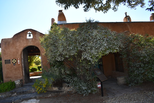 Couse Sharpe Historic Site Entrance. From History Comes Alive in Taos, New Mexico