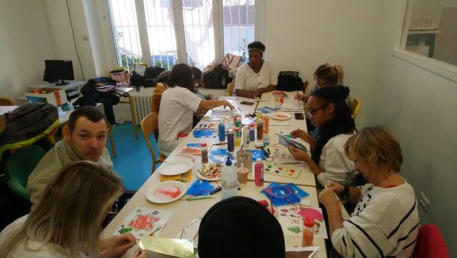 Double atelier au lycée avec l'APAJH 13