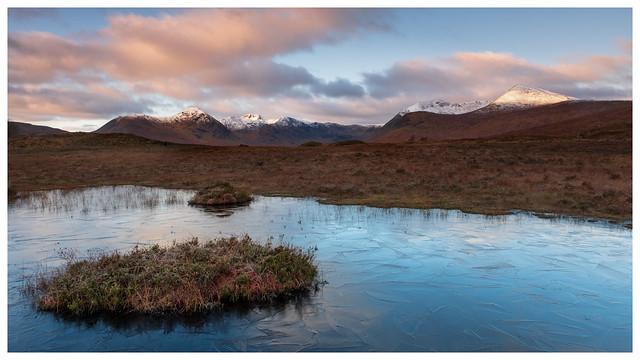 Dawn light at Loch Ba