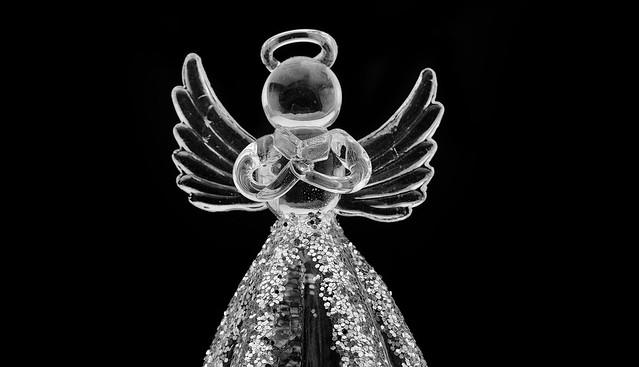 Glitter Glass Angel