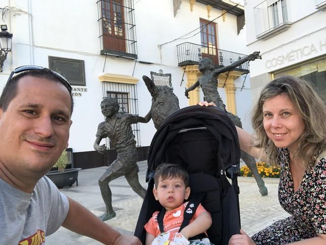 Sele, Rebeca y Unai en Moguer (Huelva)