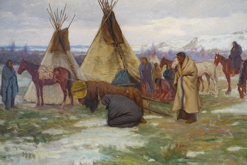 Sharp's Oil on Canvas from Collection of Buffalo Bill Center of the West. From History Comes Alive in Taos, New Mexico
