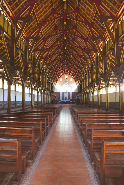 Inside Old Portuguese Catholic church Maumere, Flores