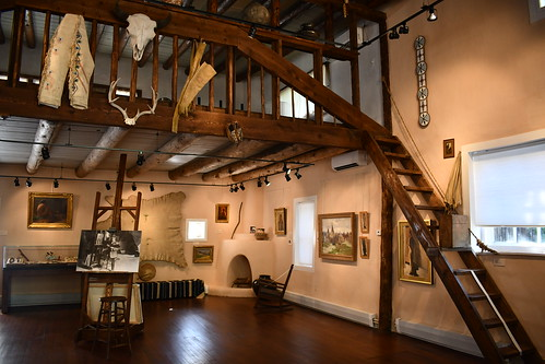Sharp's Balcony and Main Floor Studio. From History Comes Alive in Taos, New Mexico