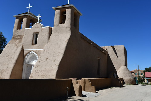 Taos San Francisco de Asis Church Exterior . From History Comes Alive in Taos, New Mexico