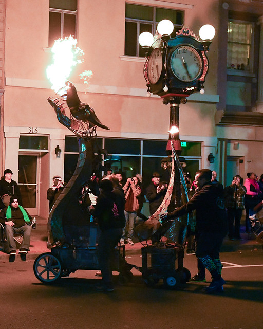 The 10th Mad Hatter Holiday Parade  Fire