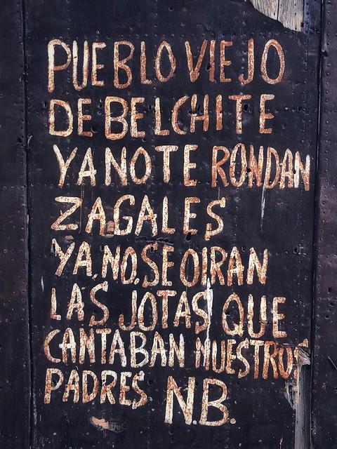 Jota de Natalio Baquero dedicada al pueblo viejo de Belchite