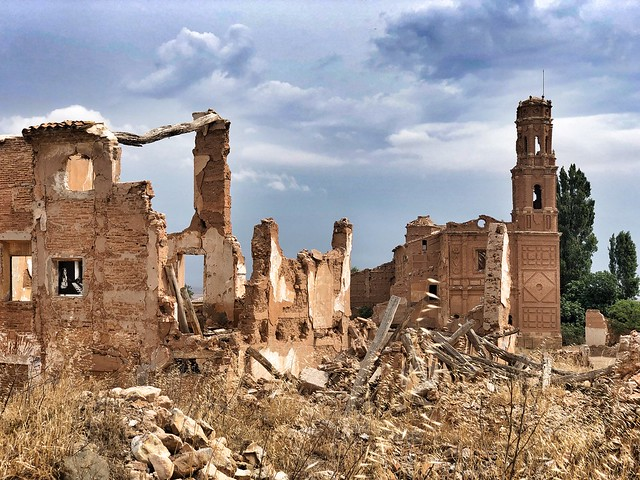 Ruinas del pueblo de Belchite, destruido durante un asedio durante la Guerra Civil española